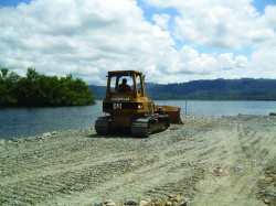 The Bocas del Toro boatyard construction is underway