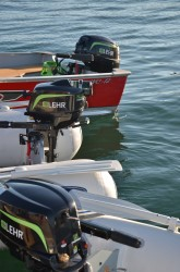 New 9.9 HP Propane Powered Outboard Boat Engine