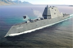 Future USS Zumwalt Underway