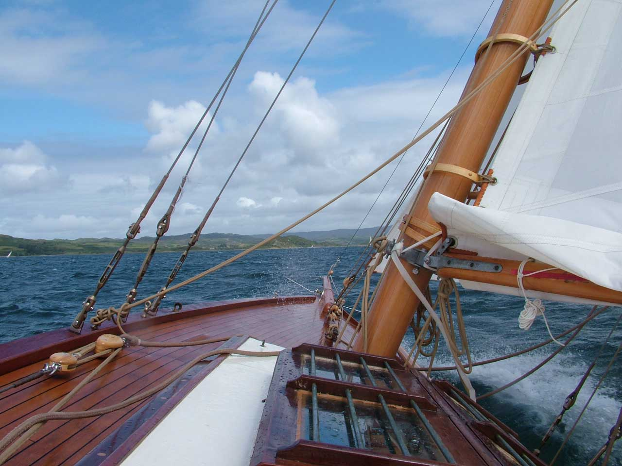 Sailing Efficiently In Stronger Winds